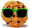 Cookie with sunglasses