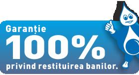Garanție 100% privind restituirea banilor